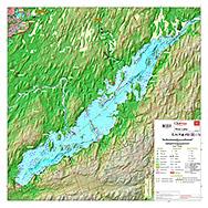 rice lake depth map Waterproof Printed Individual Map Of Rice Lake In Kawartha Lakes rice lake depth map