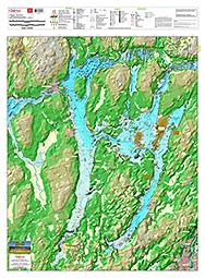 map of pigeon lake ontario Waterproof Printed Individual Chart Of Buckhorn Chemong And map of pigeon lake ontario