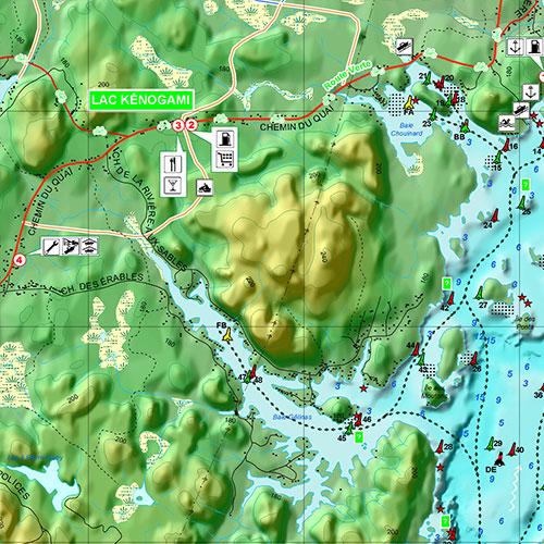 Lac 31 Milles Map Waterproof printed individual map of Poisson Blanc Lake and Lac