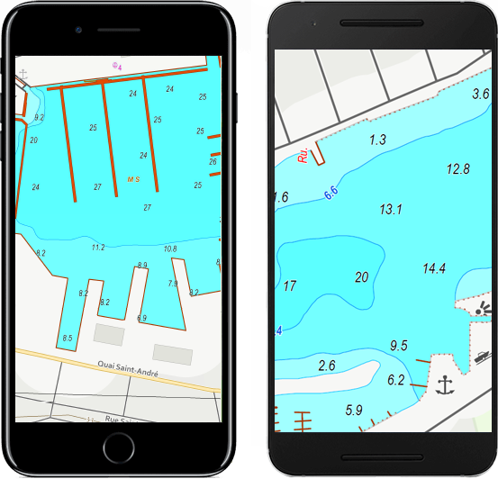 Mobile maps for iOS and Android devices