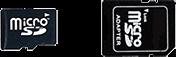 microSD Card + SD Adapter
